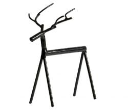 Rudolph Metalen Hert XL | Zwart