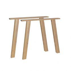 Set of 2 U-Line Table Legs | Oak