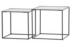 Tables d'Appoint Miles Set de 2 | Noir