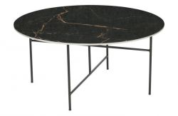Marble Side Table Ø 80 cm Vida | Black