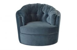 Carousel Swivel Chair | Steel Blue