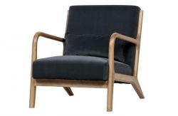 Velvet Armchair Mark | Anthracite