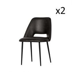 Dining Chair Fifties | Set of 2 | Black