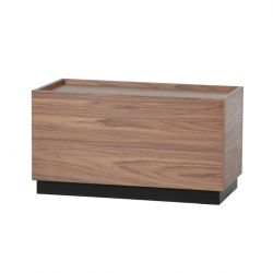 Table d'Appoint Block 82 x 40 cm | Noyer