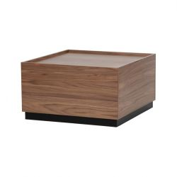 Table d'Appoint Block 82 x 82 cm | Noyer