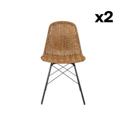 Set of 2 Outdoor Chairs Spun | Natural