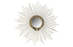Spiegel mit Kerzenhalter Sunny | Antikes Messing