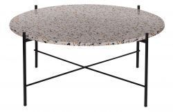 Side Table Vayen | Terrazzo | Grey | 37 cm x 83 cm
