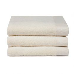 Bath Towel Pure Cream White | Set of 3