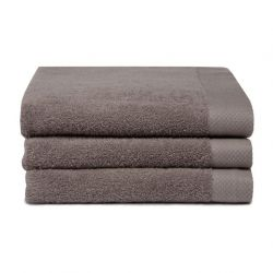 Bath Towel Pure Cement Grey | Set of 3