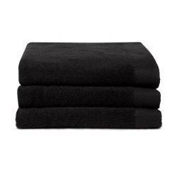 Bath Towel Pure Black | Set of 3