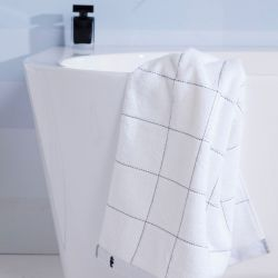 Shower Sheet Grid | White