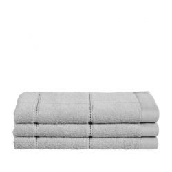 Guest Towel Grid Light Grey | Set of 3