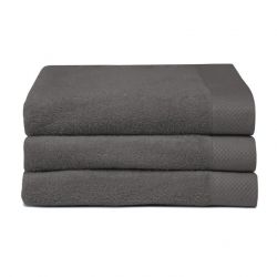 Bath Towel Pure Graphite Grey | Set of 3