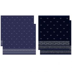 Combiset 2 Kitchen Towels + 2 Tea Towels Fjord | Indigo