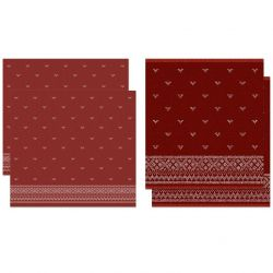 Combiset 2 Kitchen Towels + 2 Tea Towels Fjord | Red