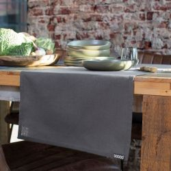 Chemin de Table Kit Anthracite | Set de 2