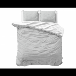 Bettbezug Twin Face | Grau / Weiß