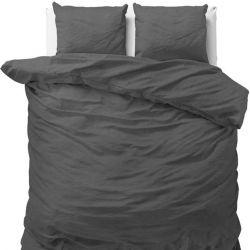 Bettbezug Stein Gewaschen | Anthrazit