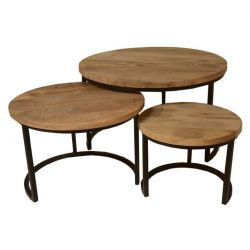 Tables Chevet Celeste Set de 3