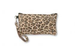 Two Sided Clutch Kate | Light Leopard