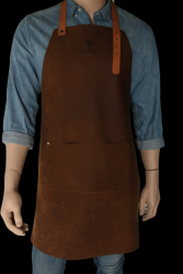 Apron with Pocket Thomas | Dark Brown