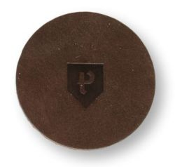 Round Coasters Home Leather Set of 6 | Pine