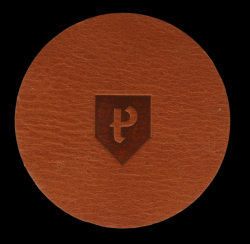Round Coasters Home Leather Set of 6 | Cognac