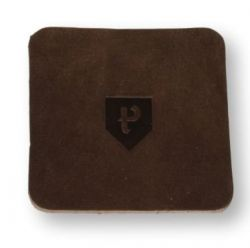 Square Coasters Home Leather Set of 6 | Pine