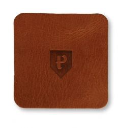 Square Coasters Home Leather Set of 6 | Cognac