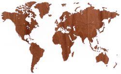 Exklusive hölzerne Weltkarte 130 x 78 cm | Sapele