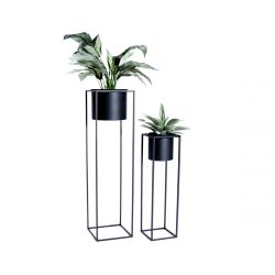 Set of 2 Plant Holders Violet | Black