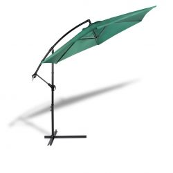 Hanging Parasol with Cover | Green
