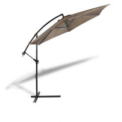 Hanging Parasol with Cover | Taupe