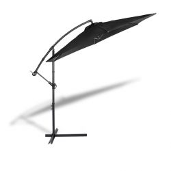 Hanging Parasol with Cover | Black