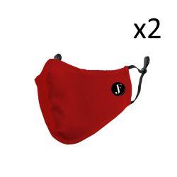 2er-Set Gesichtsmaske Spirit P | Rot