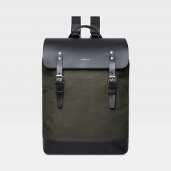 Backpack HEGE | Beluga Green with Black Leather