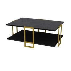 Coffee Table Polka | Black / Gold