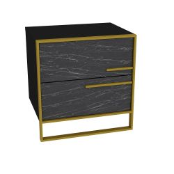 Nightstand Polka | Black / Gold