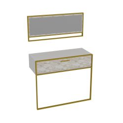 Sideboard & Mirror Polka Aynali | White / Gold