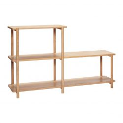 Shelving Unit 3 Shelves Oak