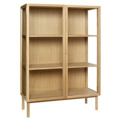 Display Cabinet Oak/Glass 100 x 140 cm | Light Wood