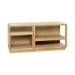 Display Cabinet Oak/Glass 110 x 50 cm | Light Wood