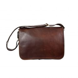 Leather Bag | Unisex Crossbody Briefcase
