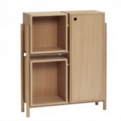 Dresser with Shelf Oak 90 cm | Nature