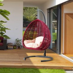 Outdoor Swing Chair | Nut Shell | Bordeaux