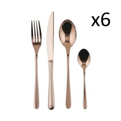 Cutlery Set of 24 Pieces Taste | Stainless Steel Copper