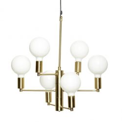 Pendant Lamp with 6 Bulbs | Brass