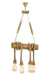 Pendant Lamp | Bamboo | 4 Stalactites