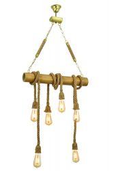 Pendant Lamp | Bamboo | 6 Stalactites